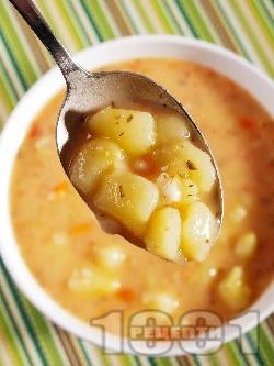 Картофена супа със сметанова застройка - снимка на рецептата